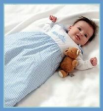 *BNIP* GENIUINE GROBAG BOY 0-6 Months 2.5 Tog  'BLUE GINGHAM' *FREE* thermometer