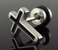Surgical Stainless Steel Cross Earring Screw Stud Gift