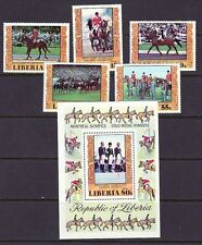Liberia Scott # 784-87 & C216 MNH Olympics Sports Horse