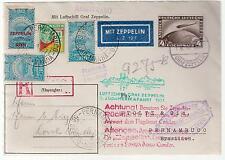 1931 Germany Graf Zeppelin Cover Pernambuco Brazil Mixed Franking LZ 127 Sieger