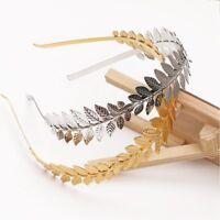 Luxury Gold Leaf Headpiece Garland Olive Laurel Wedding Crown Tiara Headband New