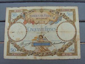 billet cinquante francs Luc  Olivier Merson 1933