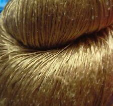 Luxury Laceweight Silk Yarn, 80g. Olive Green. For Weaving/Textile Crafts