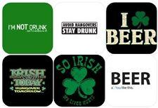 "ST PAT'S DAY COASTERS 6 Pack ""So Irish My Liver Hurts, Irish Today Hungover"" NEW"