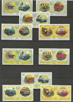 SHARJAH - 1971 Day of the Stamp 1970 - European Cars - MUH COMPLETE SET.