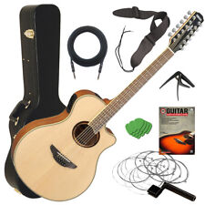 Yamaha APX700II-12 Acoustic-Electric Guitar - Natural STAGE ESSENTIALS BUNDLE