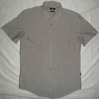 Hugo Boss Men's Short Sleeve Shirt Button Down Striped Pattern Size Large