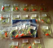 20 x Mixed STANDARD Running ledger sea fishing  rigs with rig wallet