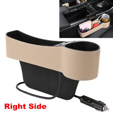 Upgrade Dual USB Car Seat Gap Catcher Storage Box Organizer Right Crevice Pocket