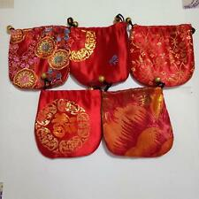 New 5 PCS Chinese Handmade Fortune Bag Coin Purse Gift Jewelry Mini Bags Pouches
