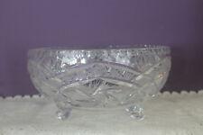 STUNNING CRYSTAL FOOTED FRUIT / SALAD BOWL IN THE PINWHEEL STAR PATTERN