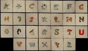 Animal Alphabet Handmade Cross Stitch, Unframed, Letters Creatures *You Choose*