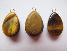 3 tigereye larme pendentif perles 15mm - 18mm brown tigers eye