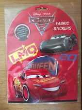 Disney Pixar Cars 3 Pack of 12 Fabric Stickers TO CUSTOMISE YOUR CLOTHES