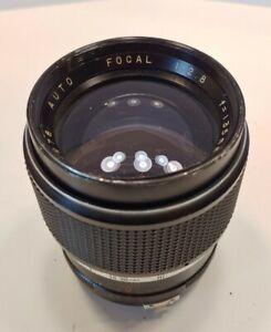 Vintage 1970s Focal 135mm f/2.8 Telephoto Lens Japan Minolta Mount