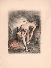 NUDE VINTAGE PAUL BECAT LESBIAN GENUINE 1950 LTD.FRENCH LITHOGRAPH  G /CONDITION