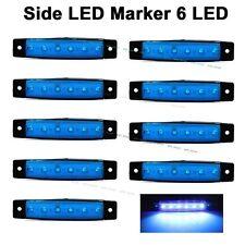 10X 12V DC SMD 6 LED Blue Rear Side Marker Light Position Truck Trailer Lorry