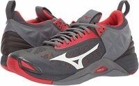 Mizuno Men's Wave Momentum Indoor Court Shoe, Grey, Size 12.0 bSNN