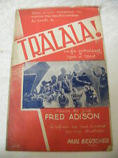Partition Tralala! Fred Adison Jazz