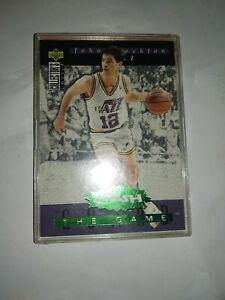 Nba  John Stockton 1994 Upper Deck Collector Choice You crash the game .