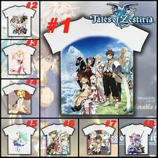 Anime Tales of Zestiria Cosplay T-shirt Casual White Short Sleeve Unisex Tee Top