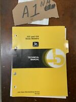 OEM John Deere 522  and 524 Snow Blowers Technical Manual  TM-1322