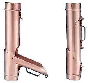 Travasatore recuperatore di acqua piovana in acciaio verniciato tdm Ø 80 mm