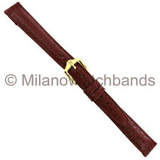 13mm Hirsch Arizona Tan Genuine Calfskin Leather Padded Ladies Watch Band Reg