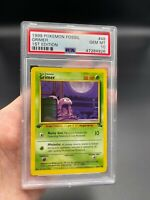 PSA 10 1st Edition Grimer 48/62 Fossil Set Pokemon Card VINTAGE WOTC