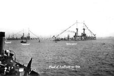 Crt-19 Royal Navy, HMS Bellerophon With The Fleet At Southend-on-Sea. Photo