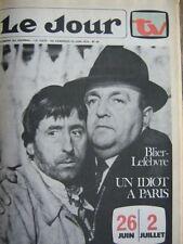 TV JOUR 76/40 (25/6/76) BERNARD BLIER JEAN LEFEBVRE
