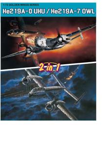 Dragon Doré Ailes Séries, He-219A-0 Uhu / He-219A-7 Chouette en 1/72 5121 St