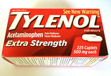 Tylenol Pain Reliever Fewer Reducer Extra Strength 500mg 225 Caplets  Exp. 05/19
