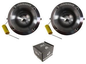 """Pair of Massive Audio CT6 1"""" 600W 8 Ohm Titanium Diaphragm Power Bullet Tweeter"""