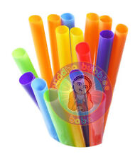 "4000 pc 9"" Extra Wide Fat Drinking Straws Solid Color Boba Bubble Tea 100 Packs"