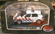 VW VOLKSWAGEN GOLF IV TDI POLICE NEERLANDAISE MAXI CAR AMSTERDAM 1/43