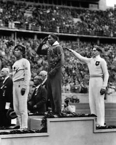 1936 Berlin Olympics JESSE OWENS Glossy 11x14 Photo USA Print Poster Gold Medal