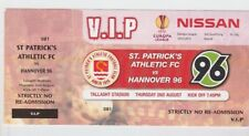 Orig.VIP Ticket  Europa League  2012/13  St.PATRICK`s ATHLETIC - HANNOVER 96  !!
