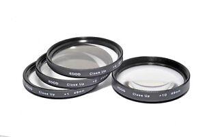 Kood 49mm Macro Close-Up Filter Set +1 +2 +4 +10 for Digital & Film Cameras