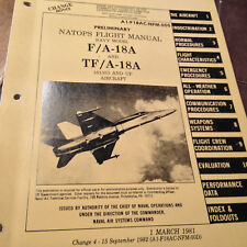 F/A 18A and Tf/A-18A Hornet Natops Flight Manual