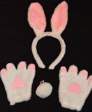 NEW Bunny rabbit tail, ears and paws set party childrens fancy dress Easter