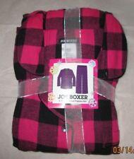 JOE BOXER 1X   FLANNEL PAJAMAS PJS NWT BLACK PINK SQUARES  WOMENS +