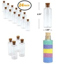 Srenta Plastic Sand Art Bottles with Cork Stoppers Arts and Crafts Mini...