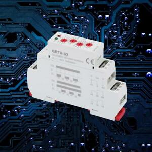 GRT8-S2 12-240V Mini Asymmetric Cycle Timer ON/OFF Repeat Cycle Time Relay HighQ