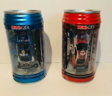 2 Mini RC Car in a Can with Charger & Remote Headlights Light Up Car Racers