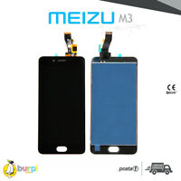 LCD + TOUCH SCREEN DISPLAY ASSEMBLATO MEIZU M3 NERO BLACK SCHERMO VETRO AAA+