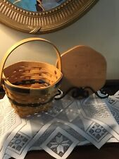 Longaberger 2000 National Sales Award Basket $45,000 Level - Signed Larry & Judy