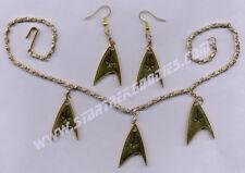 AWESOME OOAK Star Trek: Original Series INSIGNIA CHOKER & Pierced EARRINGS SET!
