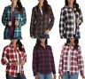 Lee Riders Womens Long Sleeves Fleece Flannel Check Shirt Top Blouse 12 14 16 18