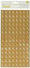 American Crafts 683275 Crate Paper Flea Market Tiles Thicker, Gold